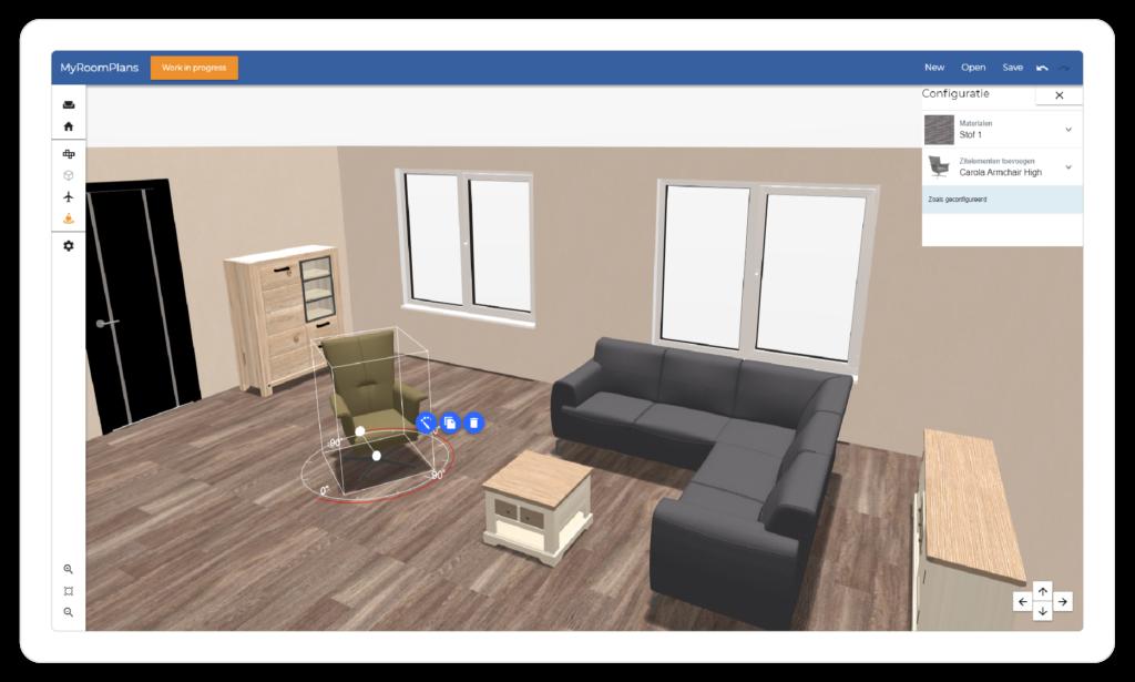 MyRoomPlans, 3D roomplanner voor de woonbranche