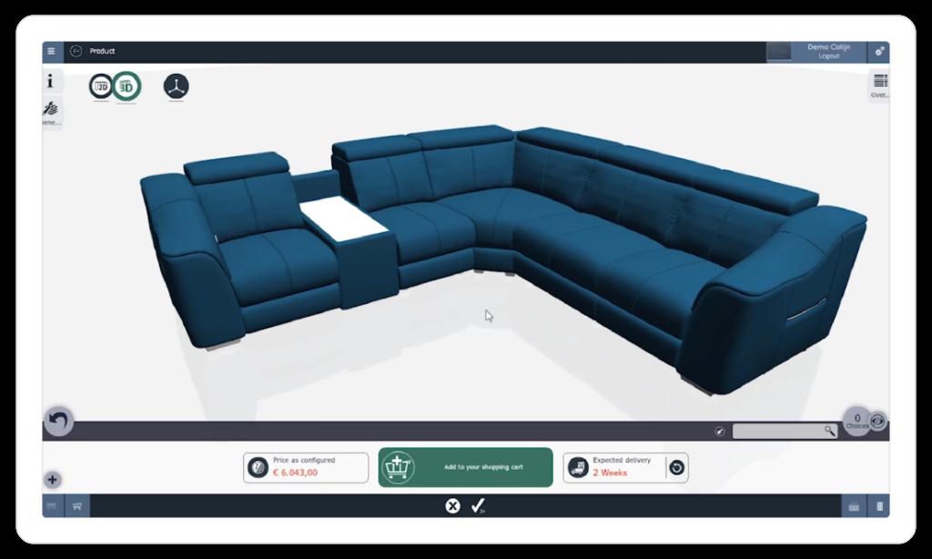 iONE 3D productconfigurator sofa