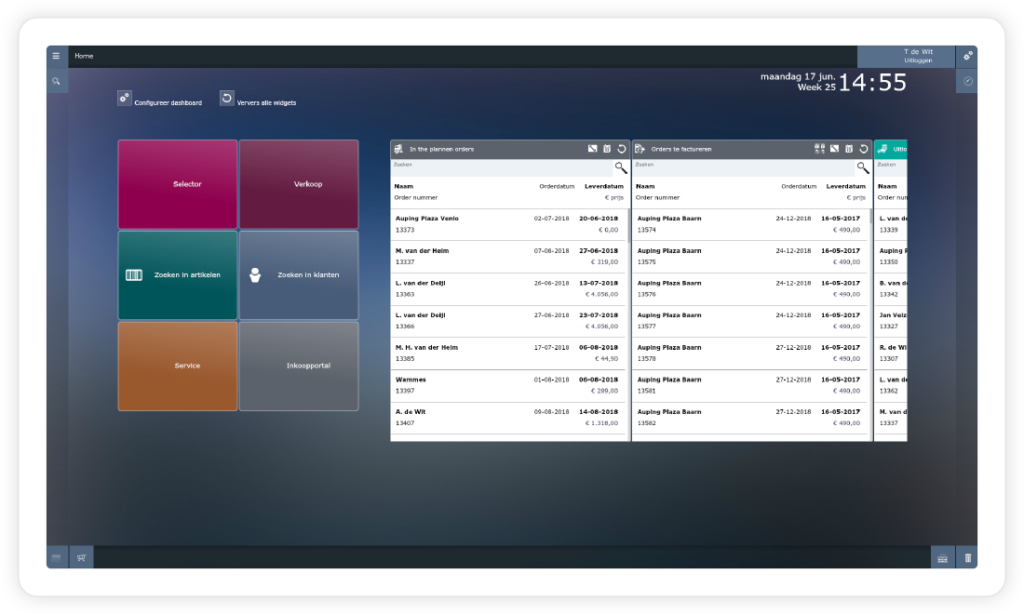 iONE ERP dashboard