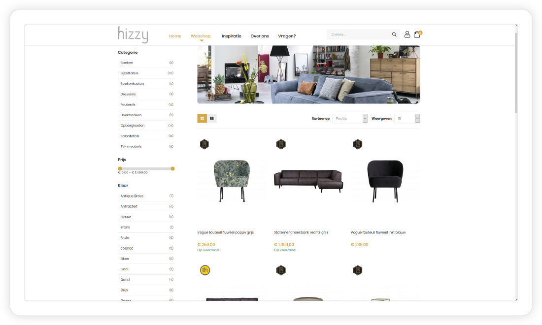 Colijn IT webshop integratie - Hizzy.nl
