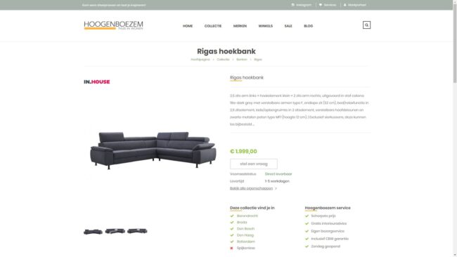 Colijn IT webshop integratie - Hoogenboezem