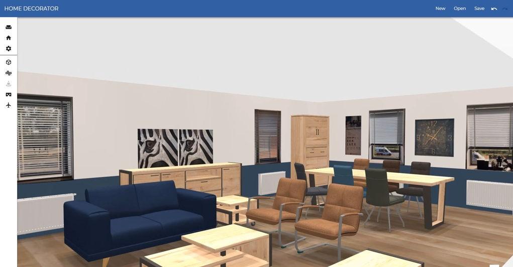 3D roomplanner met producten uit de Habufa collectie