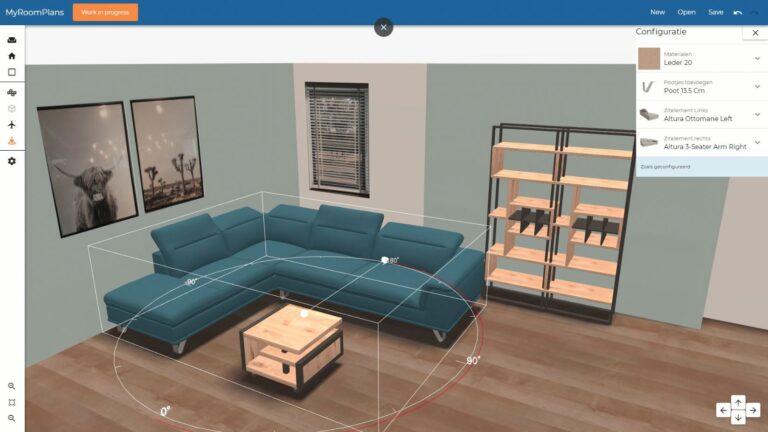 Stel uw eigen kamer samen met een roomplanner