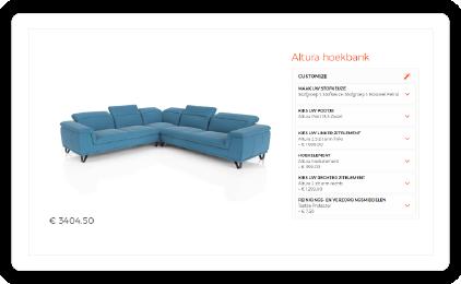 Product configurator met hoge kwaliteit renders