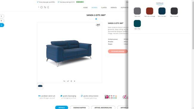 Webshop integratie met 360 viewer
