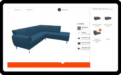 Interactieve online 3D product configurator