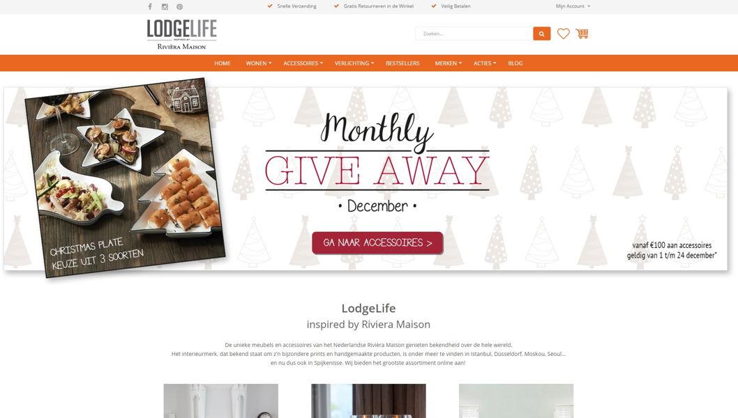 Webshop integratie Lodgelife